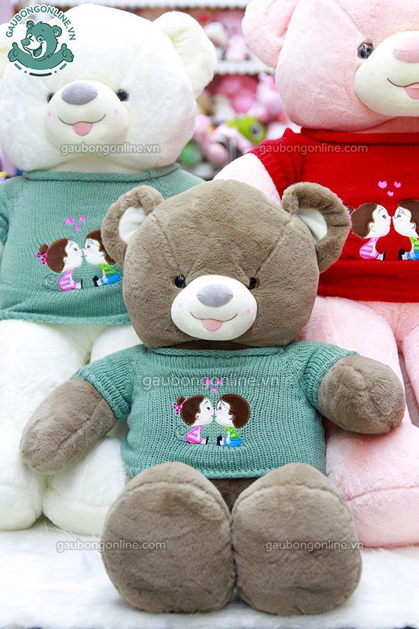Gấu Bông Teddy Len Kiss Lông Trơn