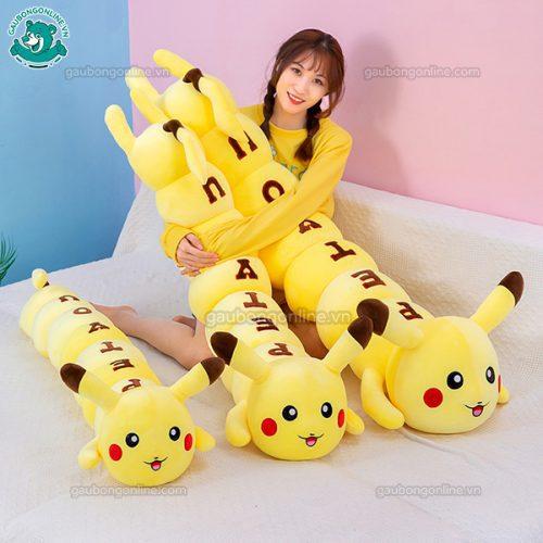 Gối Dài Pikachu Chữ(Big size)