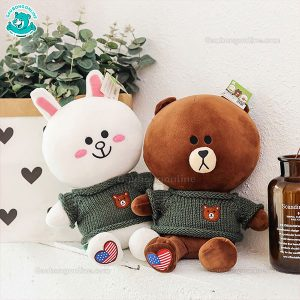 Gấu Bông Brown & Cony Áo Len