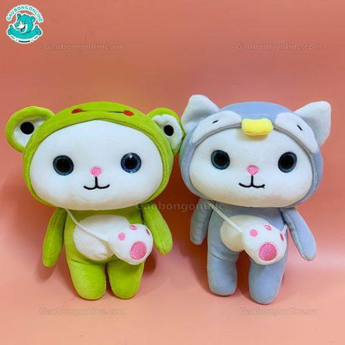 Gấu Nhỏ Mèo Đeo Túi Đứng