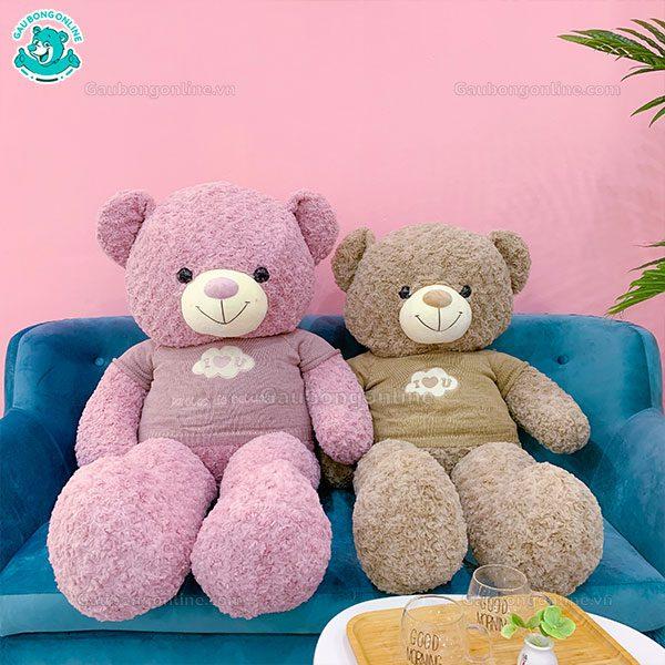 Gấu Bông Áo Love Mây