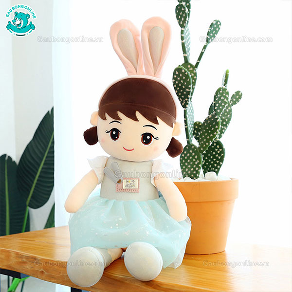 Búp Bê Bông Váy Nhũ Tai Thỏ