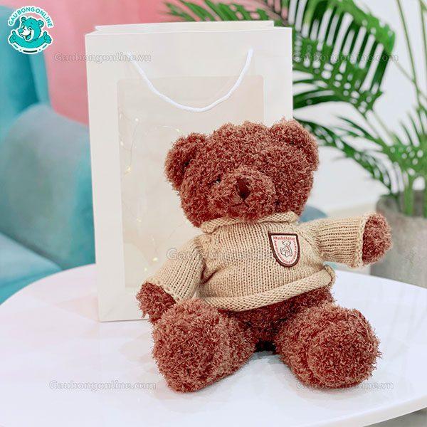 Hộp Quà Tặng Gấu Teddy Áo Len Lông Xù