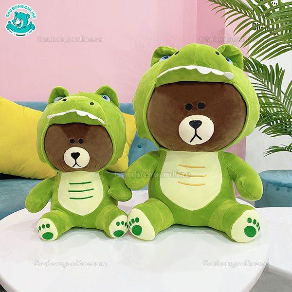 Gấu Brown Cosplay Khủng Long