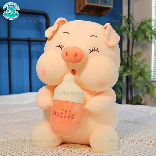 Heo Bông Ôm Bình Sữa