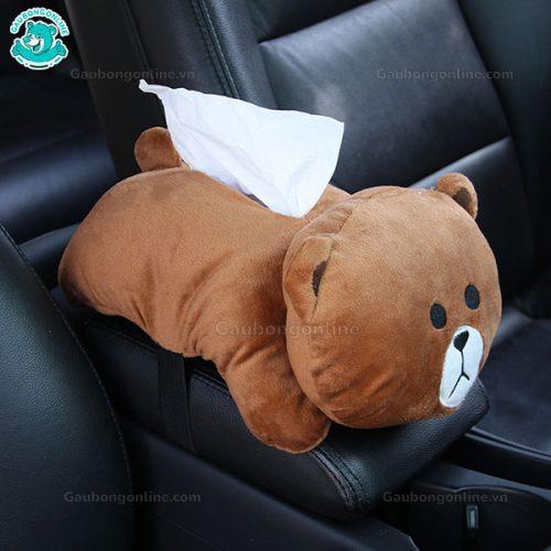 Thú Bông Đựng Khăn Giấy - Gấu Brown