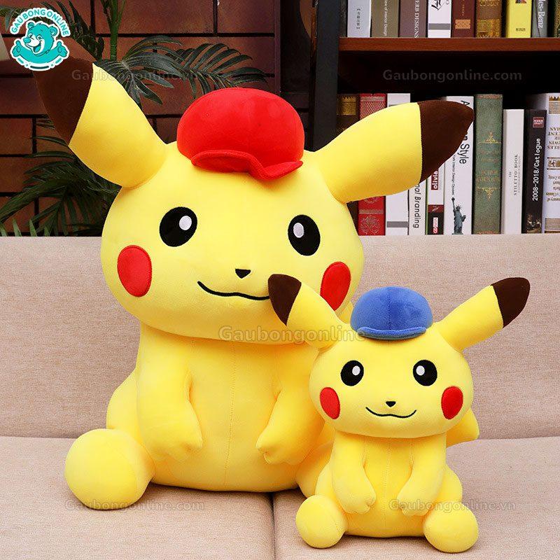 Pikachu Bông Đội Mũ