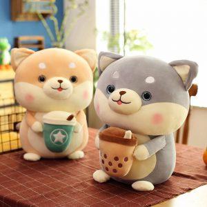 Chó Bông Shiba Ôm Trà Sữa