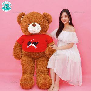 Gấu Bông Teddy Áo Kiss Me