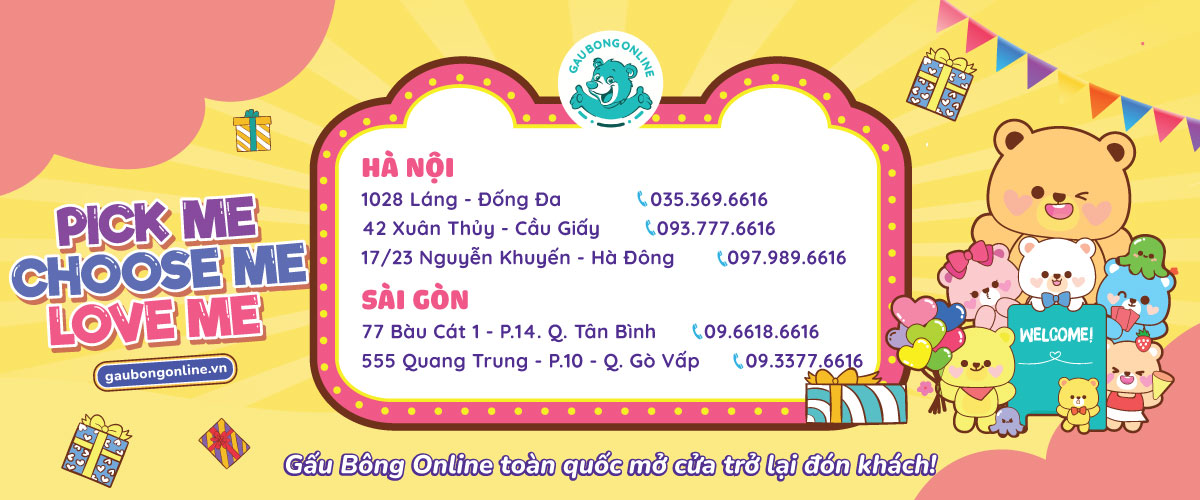 Gấu Bông Online Hà Nội